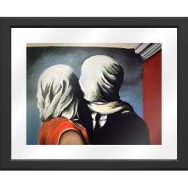 Quadro in vetro Magritte amanti 45,5x55,5