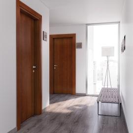 Porta per bed & breakfast battente Salisbury noce nazionale 80 x H 210 cm dx