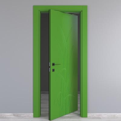 Porta da interno rototraslante blades green verde 80 x h 210 cm dx prezzi e offerte online - Porta rototraslante prezzi ...