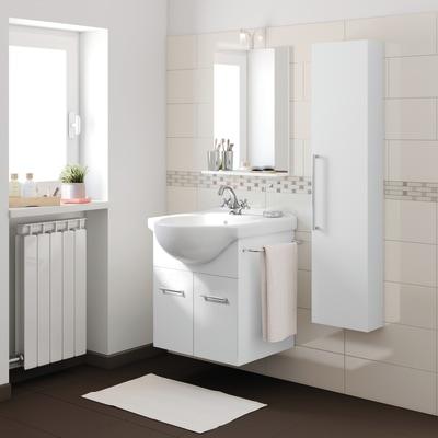 Mobile bagno ginevra bianco l 56 5 cm prezzi e offerte for Mobile bagno doppio lavabo leroy merlin