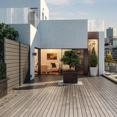 Composizione kyoto 2 pannelli marrone l 368 x h 200 cm - Pannelli divisori giardino ...