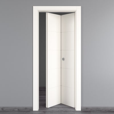Porta da interno pieghevole prado bianco 80 x h 210 cm dx prezzi e offerte online leroy merlin - Porta pieghevole ...