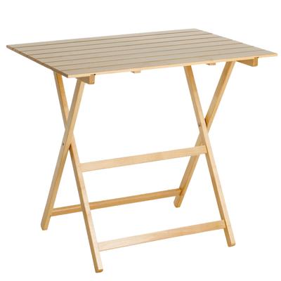 Tavolo pieghevole king 80 x 60 cm faggio prezzi e offerte for Sdraio in legno leroy merlin