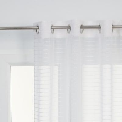 Tenda righe orizzontali bianco 140 x 280 cm prezzi e for Bianco leroy merlin
