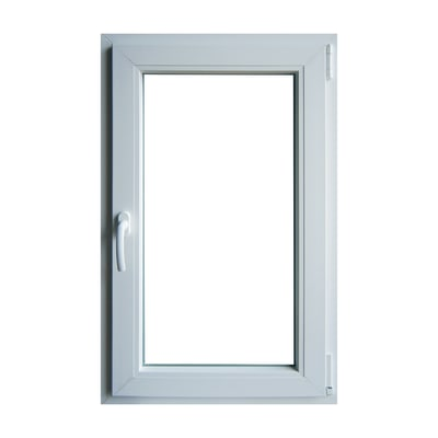 Finestra pvc bianco l 60 x h 100 cm dx prezzi e offerte for Stock finestre pvc