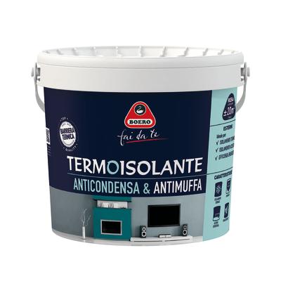 Idropittura antimuffa termoisolante bianca boero 4 l for Idropittura termoisolante boero