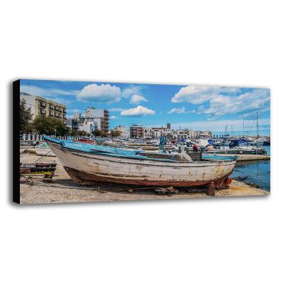 Quadro su tela bari porto 60x120 prezzi e offerte online for Leroy merlin quadri tela