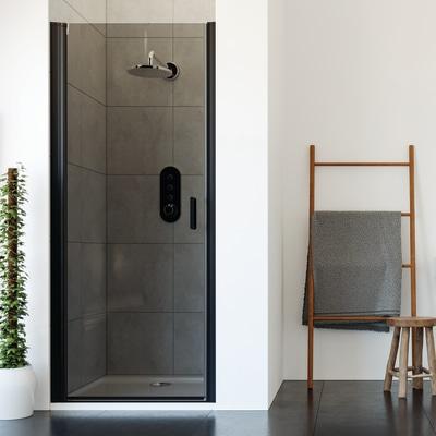 Porta doccia battente frameless 75 80 h 195 cm cristallo for Porta doccia a libro leroy merlin