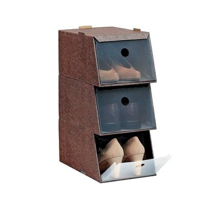 Set 3 scatole scarpe l 21 5 x h 16 x p 34 cm prezzi e for Scatole per armadi leroy merlin