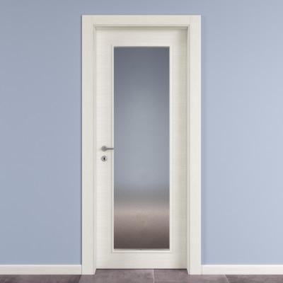 Porta Da Interno Battente Star Vetro Bianco Matrix 80 X H 210 Cm