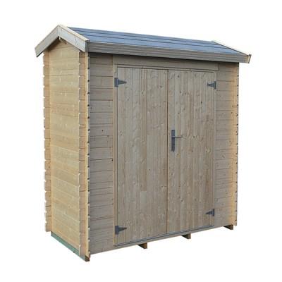 Casetta in legno grezzo heinola 1 55 m spessore 19 mm for Casetta legno bambini leroy merlin
