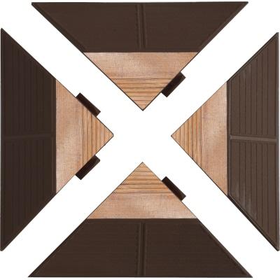 Kit 4 angolari per piastrella combiwood prezzi e offerte for Angolari in legno leroy merlin