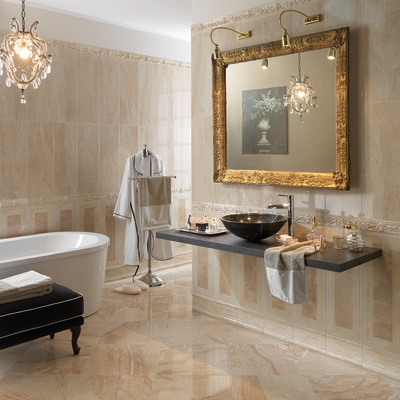 Piastrella venezia 25 x 70 cm beige prezzi e offerte online leroy merlin - Lavandini bagno leroy merlin ...
