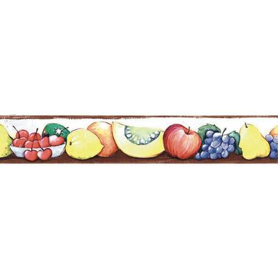 Bordo frutta multicolor 5 m prezzi e offerte online for Bordi adesivi decorativi