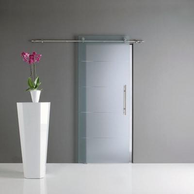 Porta da interno scorrevole Auriga trasparente 76 x H 220 cm sx ...