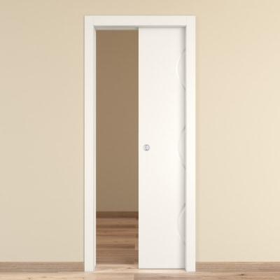 Porta da interno scorrevole snake 80 x h 210 cm reversibile prezzi e offerte online leroy merlin - Porta scorrevole da interno ...