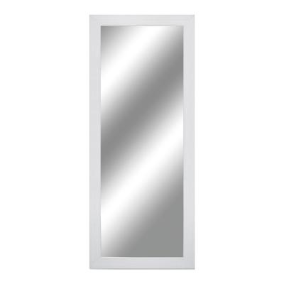Specchio da parete quadrato bianco 55x165 cm