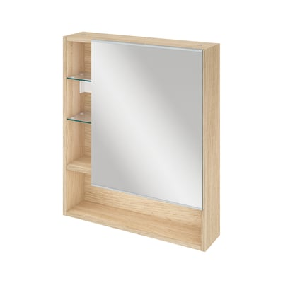 Mobile Bagno Specchio Contenitore.Specchio Contenitore Easy L 60 X P 60 X H 70 Cm Rovere Sensea