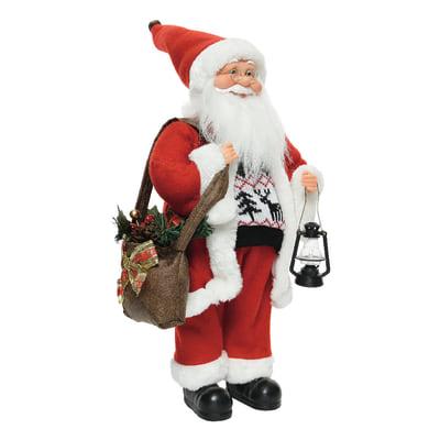 Babbo Natale 60 Cm.Babbo Natale In Tessuto H 60 Cm L 30 Cm X P 20 Cm Prezzi E Offerte Online Leroy Merlin