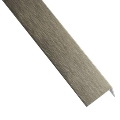 Profilo a l standers in alluminio 2 6 m x 1 6 cm titanio for Profilo alluminio led leroy merlin