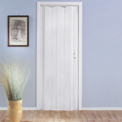 Porta a soffietto luciana in pvc bianco l 88 5 x h 214 cm for Porta asciugamani leroy merlin