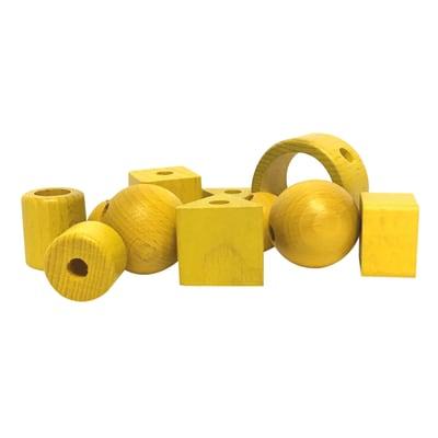 Perline in legno giallo 11 pezzi prezzi e offerte online for Perline legno leroy merlin