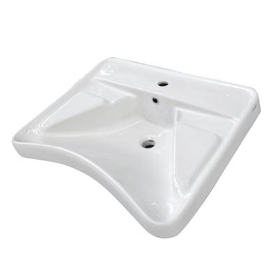 Lavabo Per Disabili Rettangolare L 66 X P 56 5 Cm In Ceramica