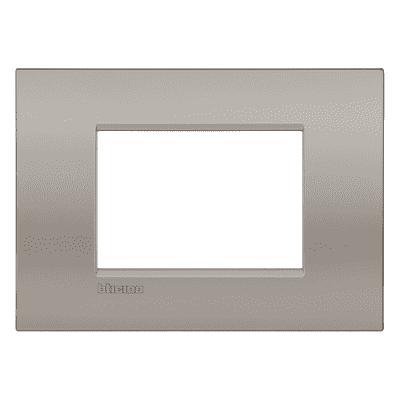 Placca 3 moduli BTicino Livinglight Air Marrone Sabbia