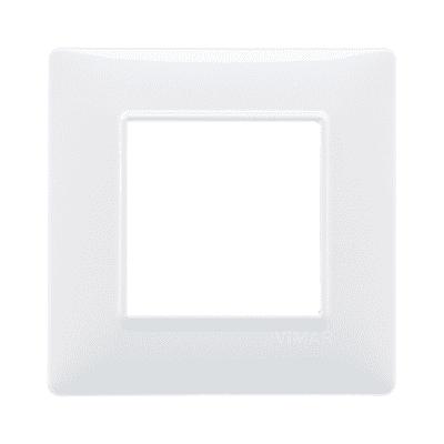 Placca 2 moduli Vimar Plana bianco