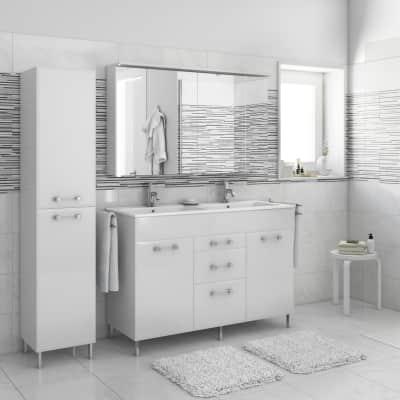 Mobile bagno Opale bianco L 120 cm