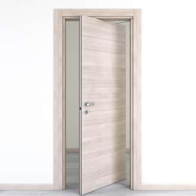 Porta da interno rototraslante Resort larice ghiaccio 70 x H 210 cm dx