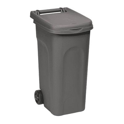 Bidone Urban Eco System grigio satinato 80 L