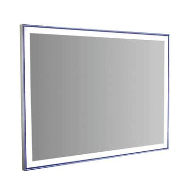 Specchio retroilluminato Quadra Led 90 x 50 cm