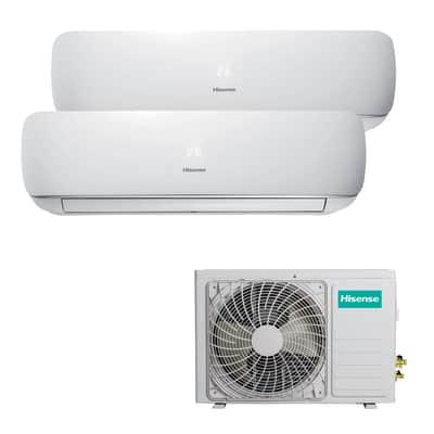 Climatizzatore fisso inverter dualsplit Hisense Mini Apple Pie 2.5 + 2.5 kW