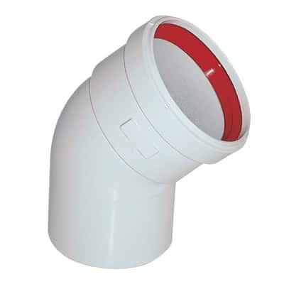 Curva 45° per caldaie a camera stagna, scaldabagni a camera stagna