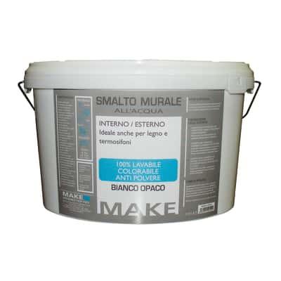 Smalto murale bianco opaco Make 5 L
