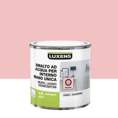Smalto manounica Luxens all'acqua Rosa Pinup 6 satinato 0.5 L