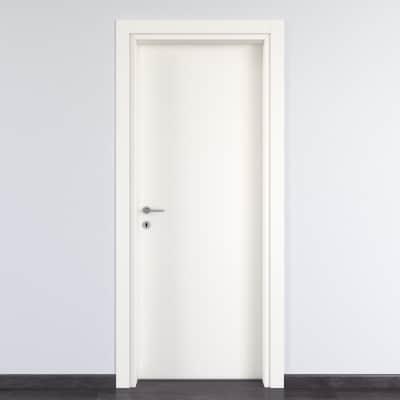 Porta per bed & breakfast battente Glasgow bianco 90 x H 210 cm dx