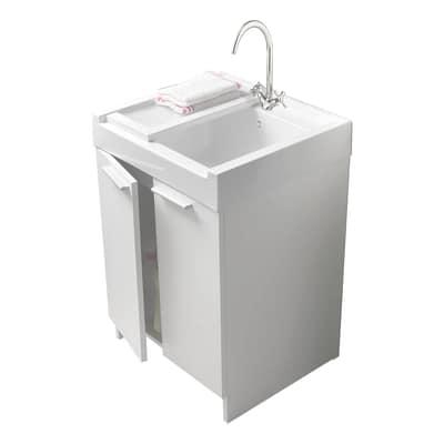 Mobile Lavatoio Evo Bianco L 60 X P 50 X H 84 Cm Prezzi E Offerte