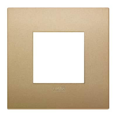 Placca 2 moduli Vimar Arké oro matt