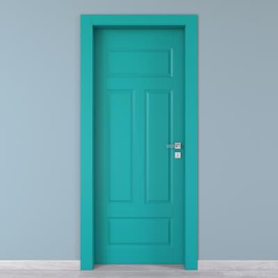 Porta da interno battente Coconut Groove azzurro 80 x H 210 cm sx