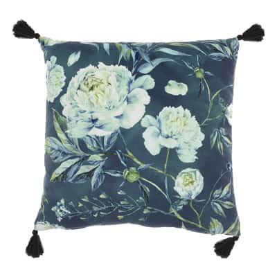 Cuscino Adriana blu retro tinta unita 40 x 40 cm