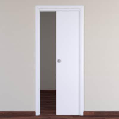 Porta da interno scorrevole Pearl bianco 70 x H 210 cm reversibile ...