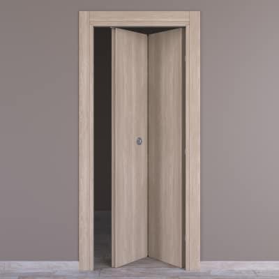 Porta da interno pieghevole Plank 80 x H 210 cm dx