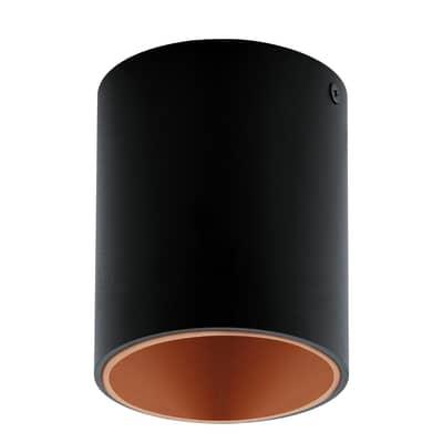 Plafoniera Polasso nero Ø 10 cm