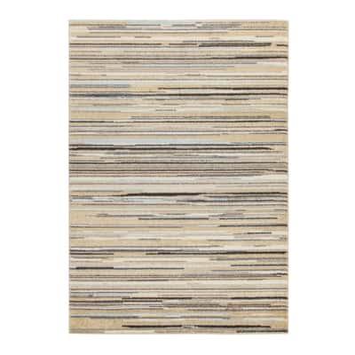Tappeto Soave stripe multicolore, blu 133 x 190 cm