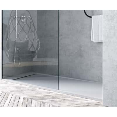 Piatto doccia resina river 140 x 70 cm bianco prezzi e for Piatto doccia 170x70 leroy merlin