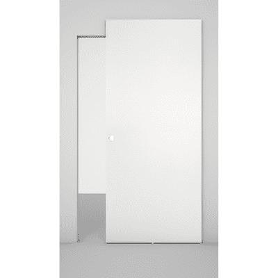 Porta da interno scorrevole Space binario nascosto bianco 101 x H 230 cm sx