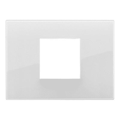 Placca 2 moduli Vimar Arké Reflex ghiaccio t.look