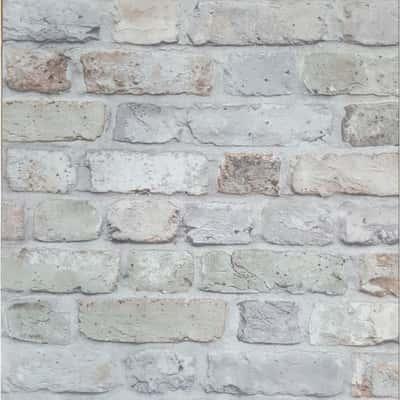 Carta da parati mattoni naturali grigio 10 m prezzi e for Prezzi mattoni refrattari leroy merlin
